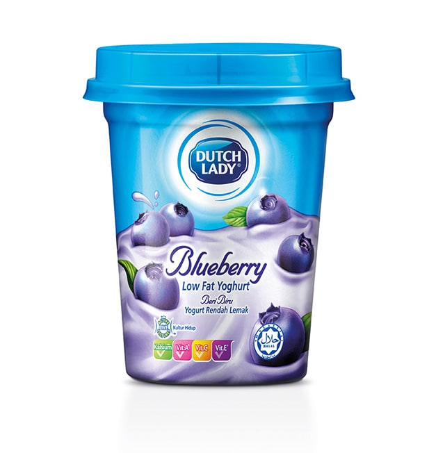 blueberry flavoured low fat yoghurt